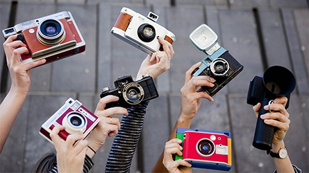 A bunch of Lomography creations