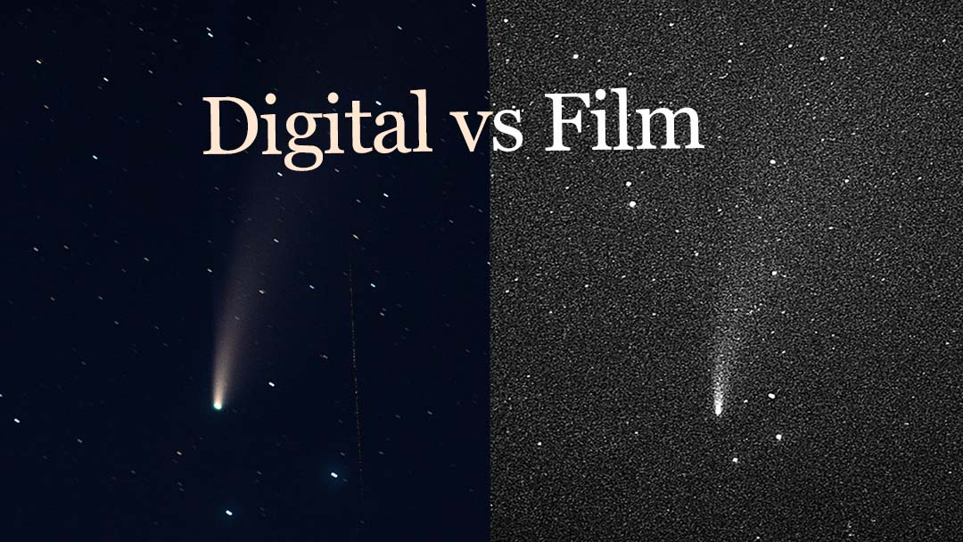 An example where digital creates superior results to film on Astrophotography